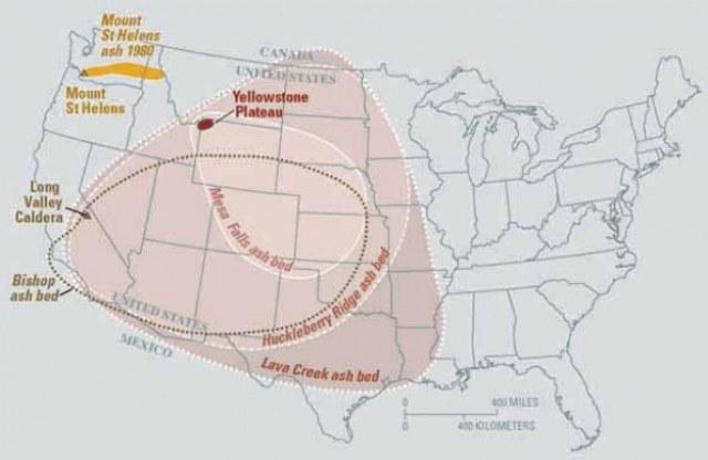 Zasięg zniszczeń, do jakich może doprowadzić wybuch wulkanu Yellowstone /materiały prasowe