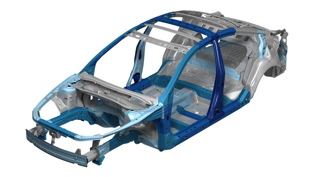 Zastosowanie stali o bardzo wysokiej wytrzymałości zwiększyło jego sztywność o 30%. /Mazda