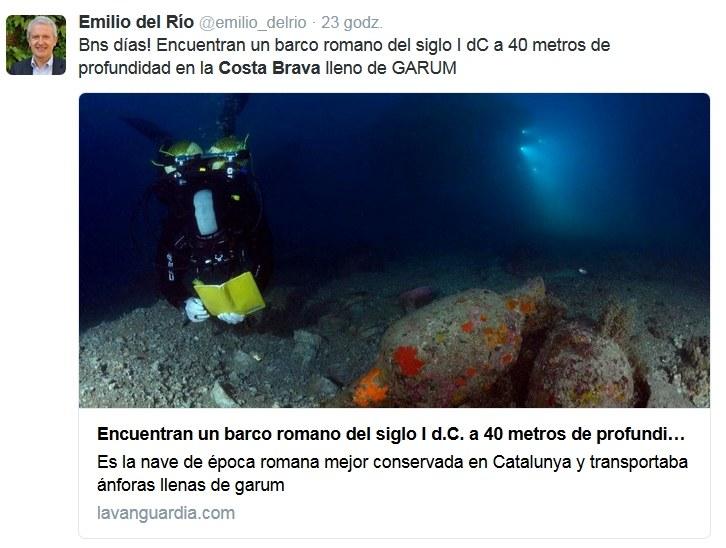 Zatopiony galeon odnaleziony na Costa Brava /Twitter