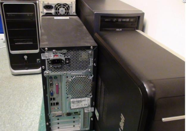 Zatrzymane komputery - zdjęcia operacyjne otwockiej policji /materiały prasowe