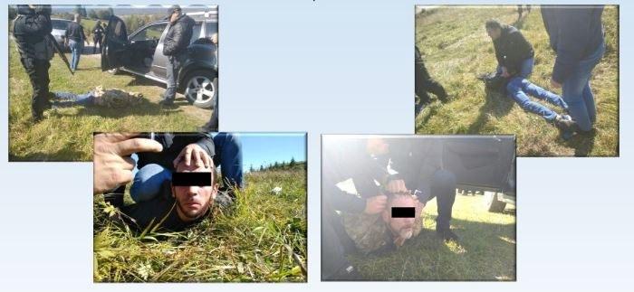 Zatrzymani członkowie grupy /http://mvs.gov.ua /Materiały prasowe