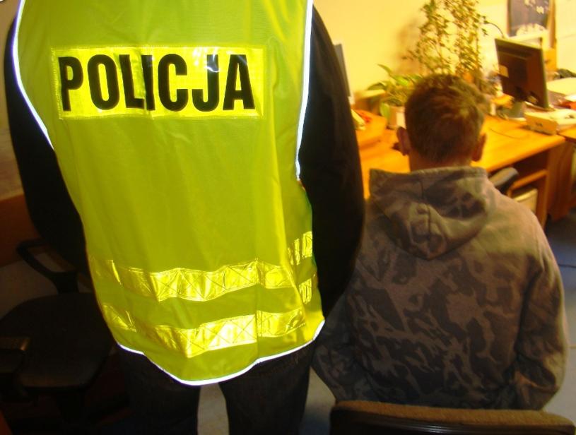 Zatrzymanie Cezarego K. /Policja