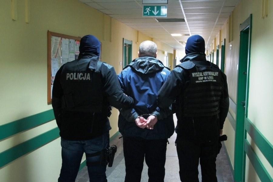 Zatrzymany Adam K. /KWP Łódź/www.lodzka.policja.gov.pl /Policja