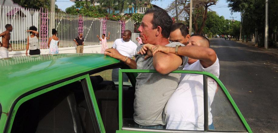 Zatrzymany mężczyzna nie uczestniczył w żadnym proteście. Nie miał te z przy sobie transparentów z hasłami przeciwko kubańskim władzom. /Paweł Żuchowski, RMF FM /RMF FM