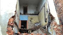 Zawaliła się ściana kamienicy w Piotrkowie Trybunalskim