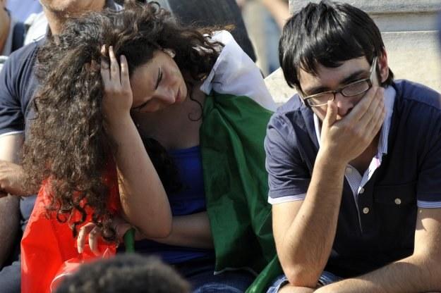 Zawiedzeni włoscy kibice /AFP