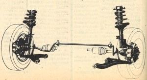 Zawieszenie przednie to typowe zwrotnice kolumnowe, współpracujące wszakże z wahaczami o zróżnicowanej długości. /Motor