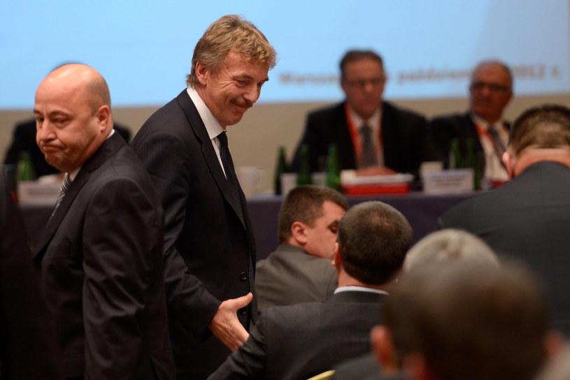 Zbigniew Boniek podczas wyborów prezesa PZPN /Bartłomiej Zborowski /PAP