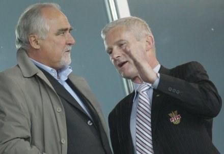 Zbigniew Koźmiński i Michał Listkiewicz (z prawej), fot: Marek Biczyk /Agencja Przegląd Sportowy
