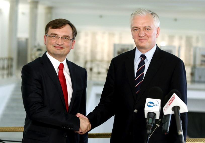 Zbigniew Ziobro i Jarosław Gowin /Tomasz Gzell /PAP