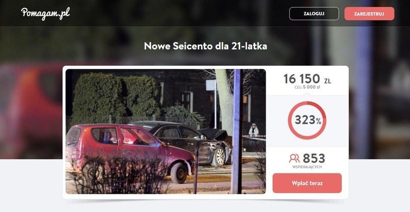 Zbiórka w serwisie pomagam.pl /INTERIA.PL