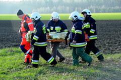 Zderzenie autokaru z ciężarówką w Słowinie. Zginęło dwoje młodych ludzi, 17 jest rannych