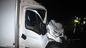 Zderzenie ciężarówek na DK 1 w Koziegłowach