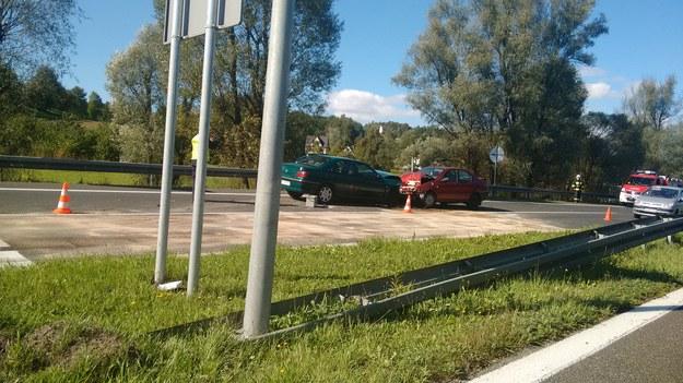 Zderzyły się dwa auta /INTERIA.PL