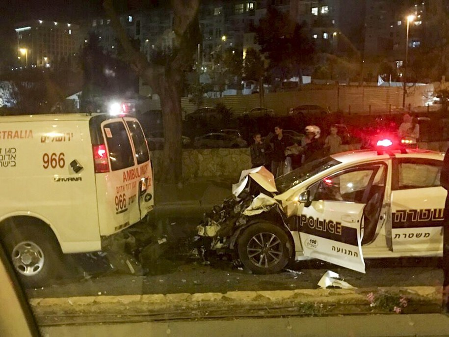 Zdj. z miejsca wypadku /United Hatzalah / HANDOUT /PAP/EPA