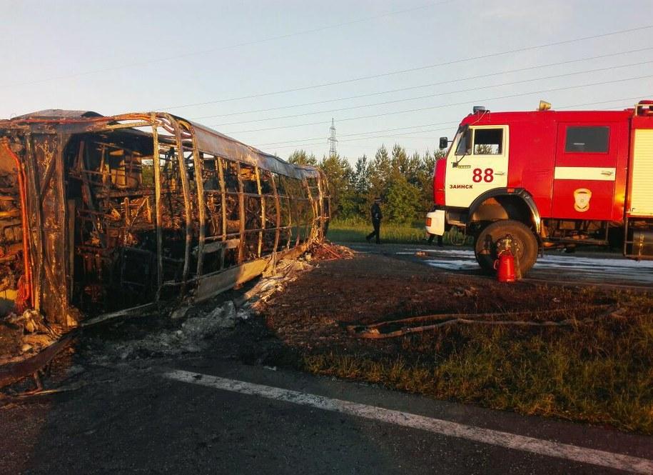 Zdj. z miejsca wypadku /RUSSIAN EMERGENCY MINISTRY/HO HANDOUT /PAP/EPA