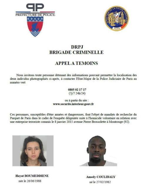 Zdjęcia podejrzanych o zabicie policjantki /FRENCH POLICE / HANDOUT /PAP/EPA