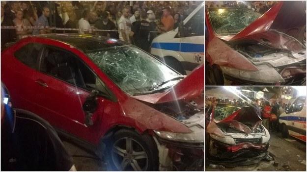 Zdjęcia z miejsca wypadku, które otrzymaliśmy na Gorącą Linię RMF FM /Gorąca Linia /RMF FM