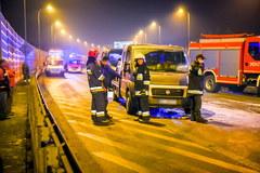 Zdjęcia z miejsca wypadku z udziałem szefa MON