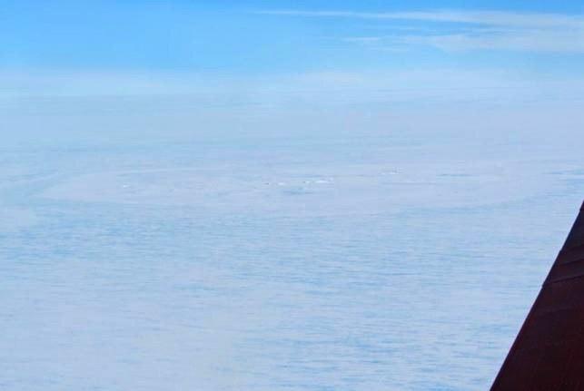 Zdjęcie domniemanego krateru na Antarktydzie. Fot. Tobias Binder, AWI /Kosmonauta
