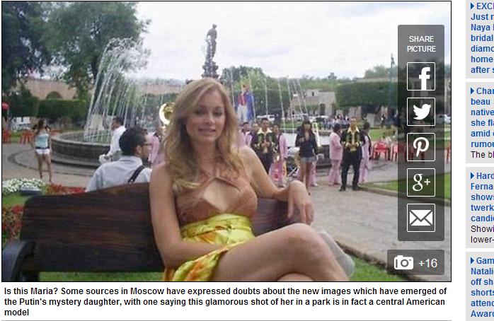 Zdjęcie, które zdaniem internautów, przedstawia Marię Putin /Daily Mail /