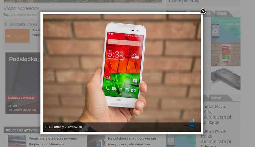 Zdjecie nowego smartfona HTC - fotografia z Phonearena opublikowana przez Android.com.pl /materiały prasowe