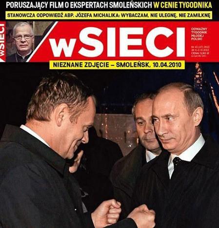 """Zdjęcie opublikowane na okładce tygodnika """"wSieci"""". /materiały prasowe"""