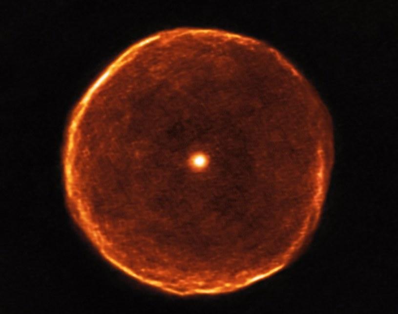 Zdjęcie przedstawiające strukturę U Antliae wykonane przy pomocy ALMA /materiały prasowe