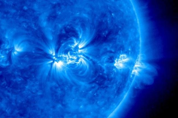 Zdjęcie Słońca wykonane przez sondę kosmiczną SOHO /Informacja prasowa