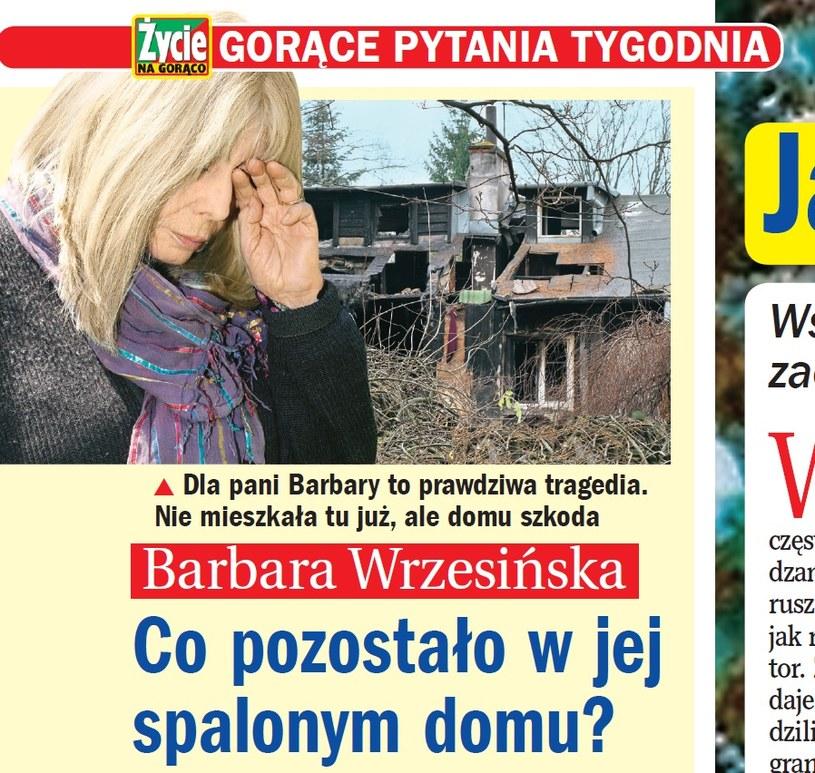 """Zdjęcie spalonego domu opublikował tygodnik """"Życie na Gorąco"""" /- /Życie na gorąco"""