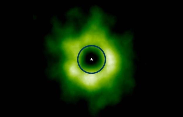 Zdjęcie wykonane przez teleskop ALMA.    Fot. Credit: Karin Oberg, Harvard University/University of Virginia /materiały prasowe