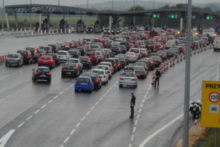 Zdjęcie z dzisiejszej blokady w Balicach /INTERIA.PL