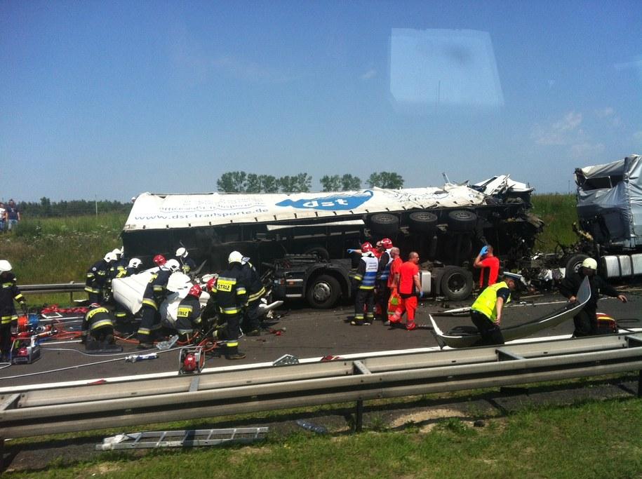 Zdjęcie z miejsca wypadku /Kazimierz, Gorąca Linia /RMF FM