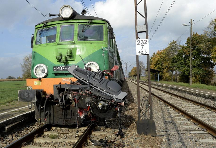 Zdjęcie z miejsca wypadku /Darek Delmanowicz /PAP
