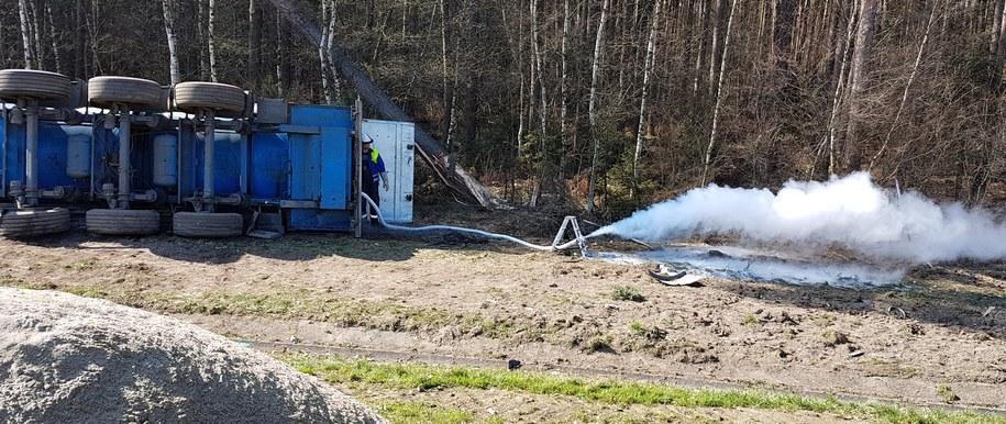 Zdjęcie z miejsca wypadku /Mariusz Materlik /Gorąca Linia RMF FM