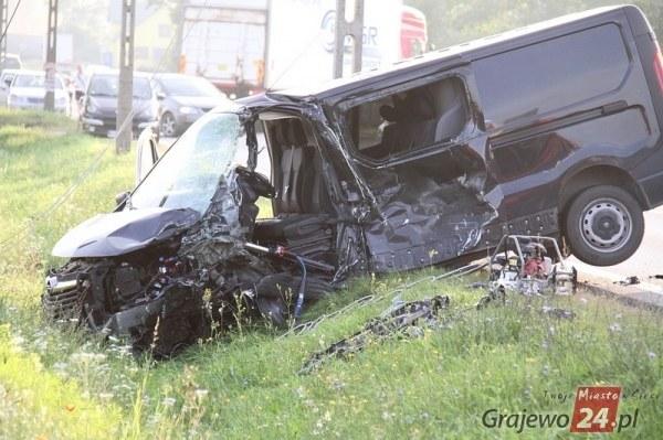 Zdjęcie z miejsca wypadku /grajewo24.pl /