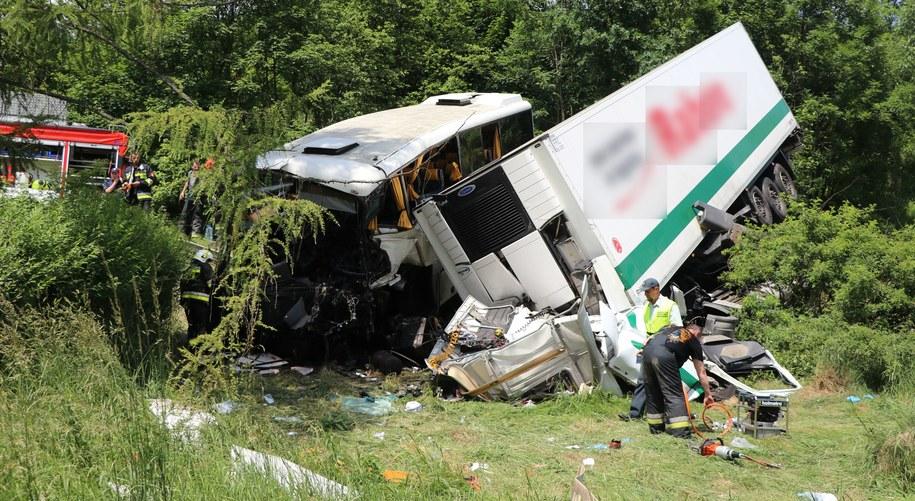 Zdjęcie z miejsca wypadku /Józef Polewka /RMF FM