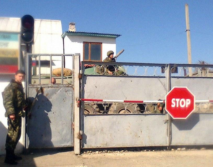 Zdjęcie z oblężonej przez Rosjan bazy w Teodozji /Kyodo /East News