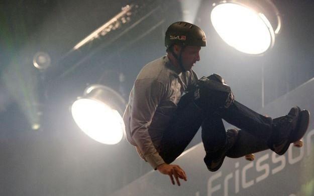 Zdjęcie z pokazu umiejętności słynnego skatera /AFP