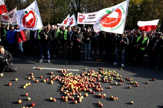 Zdjęcie z protestu /Tomasz Gzell /PAP