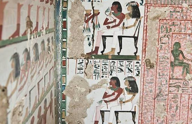 Zdjęcie z wnętrza odkrytego grobowca /Egypt Tourism Campaign /facebook.com