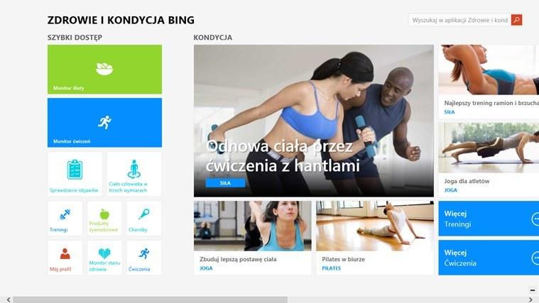 Zdrowie i kondycja Bing /materiały prasowe