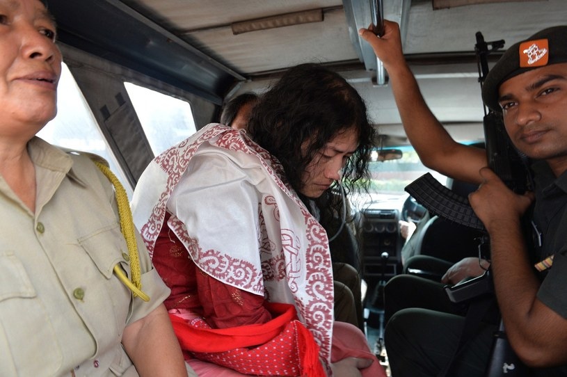 """""""Żelazna dama Manipur"""" była aresztowana 14 razy /AFP"""