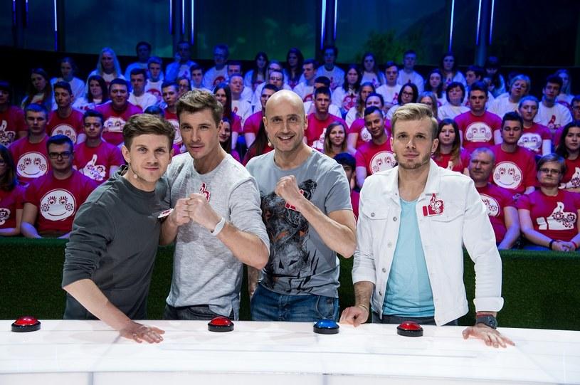 Zespół Antoniego Królikowskiego: Mikołaj Roznerski, Robert Koszucki i Tomasz Ciachorowski /Jan Bogacz /TVP