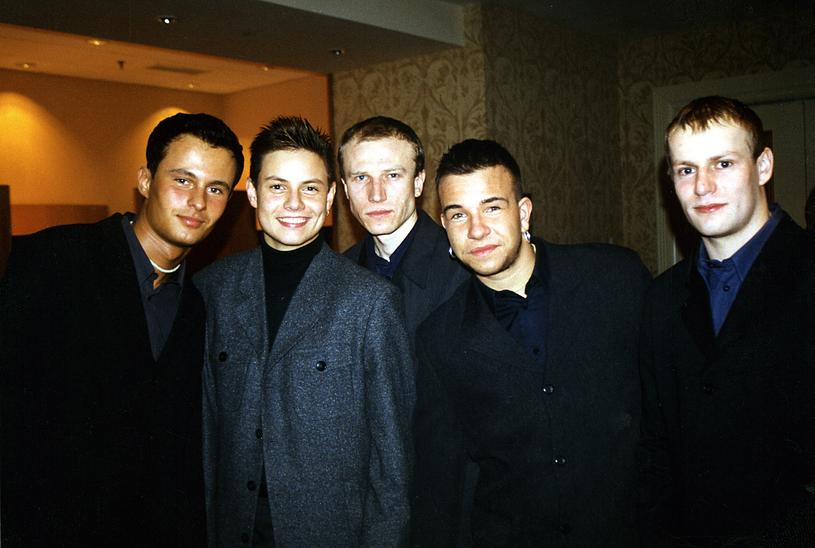Zespół Just 5 w 1999 roku. Drugi z prawej to Daniel Moszczyński /AKPA