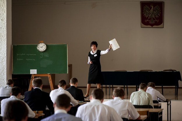 Zeszłoroczny egzamin maturalny w Tychach /Tomasz Jodłowski /Reporter