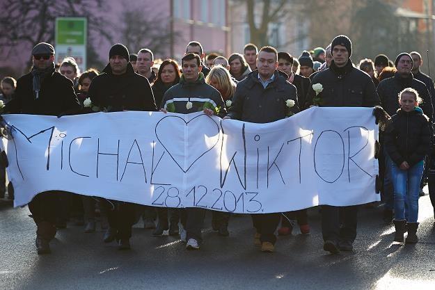 Zginął ojciec i 8-letni syn. Marsz w proteście przeciwko przemocy w Kwidzynie/fot. Adam Warżawa /PAP