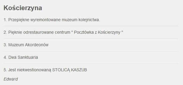 Zgłoszenie Kościerzyny /RMF FM