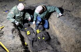 Zgórsko: Ekshumacja szczątków ofiar egzekucj