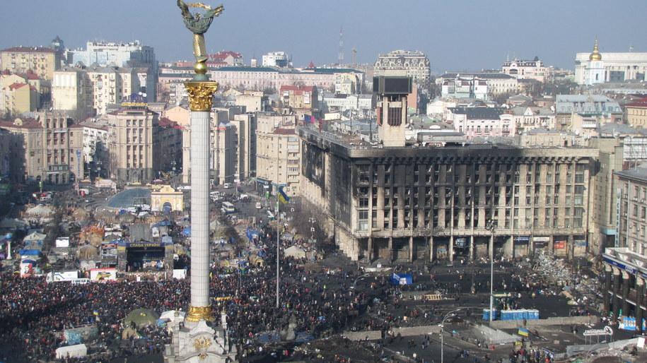 Zgromadzeni na Majdanie nieufnie podchodzą do porozumienia /Przemysław Marzec /RMF FM